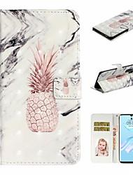 Недорогие -Кейс для Назначение Huawei Huawei P20 Pro / Huawei P20 lite / Huawei P30 Кошелек / Бумажник для карт / Защита от удара Чехол Продукты питания Кожа PU