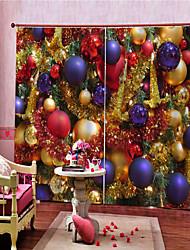 Недорогие -Новое поступление рождественские украшения дома затемнения полиэфирных занавесок для гостиной