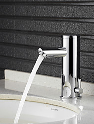 cheap -Bathroom Sink Faucet - Widespread Chrome Free Standing Hands free One HoleBath Taps