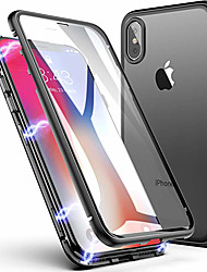cheap -Case For Apple iPhone 11 / iPhone 11 Pro / iPhone 11 Pro Max Shockproof / Transparent / Magnetic Full Body Cases Solid Colored Hard Tempered Glass / Metal