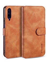 cheap -Case For Huawei Huawei Y7 Pro(2019) / Huawei Y6 Pro (2019) / Huawei Y6 (2019) Wallet / Card Holder / with Stand Full Body Cases Solid Colored PU Leather