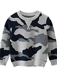 cheap -Kids Boys' Street chic Print Long Sleeve Sweater & Cardigan Gray