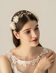 cheap -Rhinestone / Beads / Alloy Headbands / Headdress with Crystal / Rhinestone / Floral / Metal 1pc Wedding / Party / Evening Headpiece