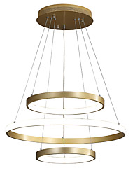 cheap -LED70W Circle Chandlier Aluminum Gold Painted for Living Room Bedroom Office Cafes Bar Warm White / White / Dimmable With Remote Control/24/16/12inch Three Rings