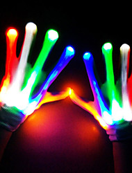 cheap -Skeleton / Skull Gloves Halloween Props Men's LED Stage Props Halloween Festival / Holiday Nylon White Men's Women's Carnival Costumes