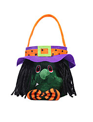 cheap -Witch Vampire Pumpkin Kid's Boys' Halloween Halloween Festival / Holiday Fabric Black / Orange / Green Carnival Costumes Embroidery Patchwork / Bags and Purses