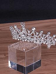 cheap -Alloy Tiaras with Crystal 1 Piece Wedding Headpiece