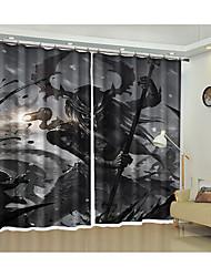 cheap -Halloween Decoration Devil Print 3d Curtain Festival Halloween Shading Curtain High Precision Black Silk Cloth High Quality Level Shading Bedroom Living Room Curtain