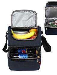 abordables -Nouveau imperméable à l'eau dépoli grande capacité sac à lunch banquise double couche conception réfrigérateur oxford thermos sac