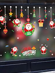 Недорогие -Оконная пленка и наклейки Украшение С узором / Рождество Геометрический принт / Персонажи ПВХ Стикер на окна / обожаемый