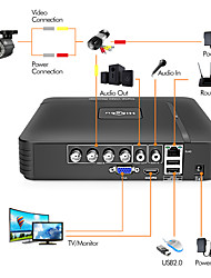 cheap -Hiseeu® HD 4CH 1080N 5in1 AHD DVR Kit CCTV System 2pcs 1080P AHD Waterproof IR Camera P2P Security Surveillance Set