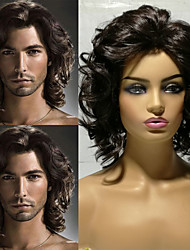 cheap -Synthetic Wig Cosplay Wig Wavy Pixie Cut Side Part Wig Short Medium Brown Synthetic Hair 14 inch Men's Adjustable Party Women Brown Laflare
