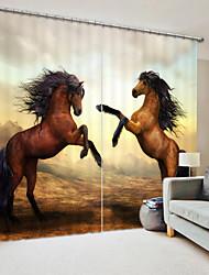 cheap -Jumping Horse Digital Printing 3D Curtain Shading Curtain High Precision Black Silk Fabric High Quality Curtain