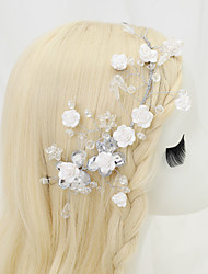 cheap -Other Material / Crystal / Alloy Headdress with Crystal 1 Piece Wedding Headpiece