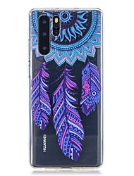 cheap -Case For Huawei Huawei P30 / Huawei P30 Pro / Huawei P30 Lite Pattern Back Cover Feathers TPU