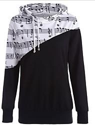 cheap -Women's Hoodie Color Block Casual Hoodies Sweatshirts  Wine Black