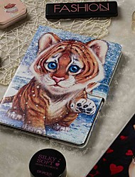cheap -Adjustable Case For Apple / Samsung Galaxy / Huawei / Sony Xperi / Acer / Asus / Amazon / Lenovo Universal Wallet / Card Holder / with Stand Full Body Cases Tiger PU Leather 9.4-10.5 Inch