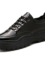 cheap -Men's Comfort Shoes PU Fall & Winter Casual / British Boots Walking Shoes Non-slipping Black / Rivet / Outdoor