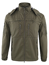 cheap -Men's Hunting Jacket Outdoor Thermal / Warm Waterproof Windproof Breathability Spring Summer Fall Camo Jacket Top Terylene Camping / Hiking Hunting Climbing Black Green Camouflage / Winter / Winter