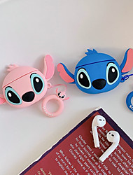 cheap -3D Earphone Case For Airpods 2 Case Silicone Stitch Cat Cartoon Headphones Cover For Apple Air pods 1 Case For Earpods Key ring