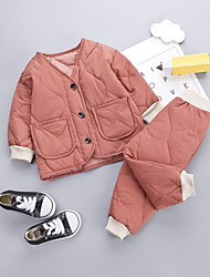 cheap -Baby Boys' Basic Solid Colored Long Sleeve Regular Clothing Set Red