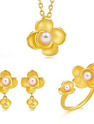 cheap -Women's Bridal Jewelry Sets Geometrical Flower Fashion Resin Earrings Jewelry Gold For Gift Daily 1 set