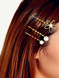 cheap -Women's Basic Trendy Fashion Pearl Hair Jewelry New Year Birthday
