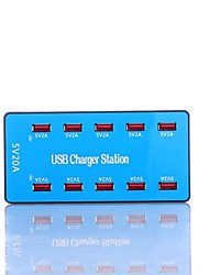 cheap -100W 20A USB Charger A5B 10 Desk Charger Station with Smart Identification US Plug / EU Plug / UK Plug Charging Adapter