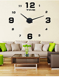 """cheap -Wall Clock,Fashion DIY Plastic & Metal Acrylic Stainless steel Round Indoor / Outdoor 39.3"""" x 39.3"""" (100cm x 100cm)"""