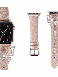 Недорогие -ремешок для часов для Apple Watch серии 5/4/3/2/1 дизайн ювелирных изделий Apple ремешок из натуральной кожи