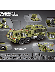 cheap -Building Blocks Military Blocks Vehicle Playset 1377 pcs compatible Legoing Cute All Toy Gift / Kids / Educational Toy