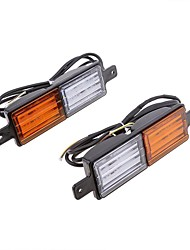cheap -Vehemo Wing Double Color Warning Lights Tail Lights Automobile Rear Lamps Accessories Truck Universal Vehicle