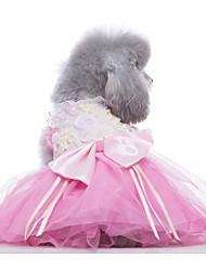 cheap -Dogs Cats Pets Dress Dog Clothes White Purple Fuchsia Costume Polyster Solid Colored Wedding XS S M L XL