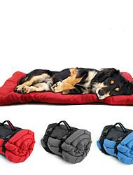 Недорогие -Собаки Коты Кровати Коврики и подушки Ткань Компактность Сохраняет тепло Путешествия Контрастных цветов Красный Синий Серый
