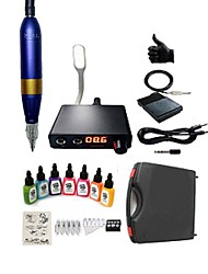 cheap -Professional Tattoo Kit 1 Rotory Tattoo Pen 7 x 15 ml Inks 5 Needles High Quality Power Supply 1GHMS0028B