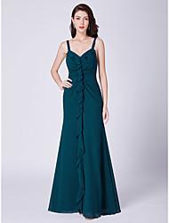 cheap -Women's Wedding Event / Party A Line Dress - Solid Colored Blue S M L XL