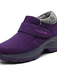cheap -Women's Athletic Shoes Sculptural Heel Round Toe Synthetics Sporty / Casual Walking Shoes Fall & Winter Black / Purple / Fuchsia