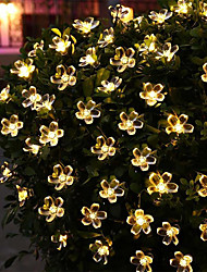 cheap -5m Cherry Blossoms String Lights 20 LEDs 1Set Mounting Bracket Warm White / RGB / White /Blue / Waterproof / Solar / Outdoor Night Light / Cute Solar Powered 1 set