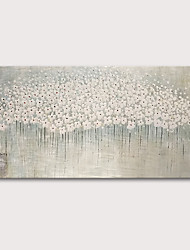 cheap -Oil Painting Hand Painted Floral / Botanical Abstract Landscape Comtemporary Modern Rolled Canvas Rolled Without Frame