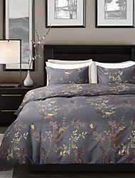 cheap -Duvet Cover Sets Floral / Botanical Polyester / Polyamide Reactive Print / Printed 3 PieceBedding Sets