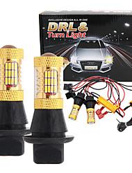 Недорогие -Автомобиль bau15s ba15s p21w py21w w21w t20 7440 54smd автоматический сигнал поворота лампы светодиодные фары дневного света туман drl парковка внешний свет 12 В