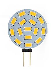 cheap -G4 LED Round Range Lamp Bulb 15leds 5730 SMD 12V 24V DC 2W LED Reading Dome Light 120 Degree White Warm White