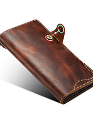 cheap -Phone Case For Samsung Galaxy Full Body Case S9 S9 Plus S8 Note 9 Note 8 S10 S10 + Galaxy S10 E Galaxy S10 5G Note 10 Card Holder Solid Colored Genuine Leather
