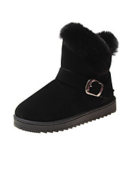 cheap -Women's Boots Snow Boots Flat Heel Round Toe Tassel Satin Booties / Ankle Boots Casual Walking Shoes Fall & Winter Black / Dark Brown / Gray