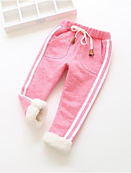 abordables -bébé Fille Basique Couleur Pleine / Imprimé Coton Leggings Rose Claire / Bébé