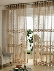 cheap -Lace Sheer One Panel Bedroom   Curtains
