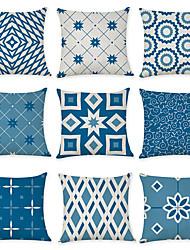 cheap -9 pcs Linen Pillow Cover, Geometric Pattern Geometic Leisure Modern Throw Pillow