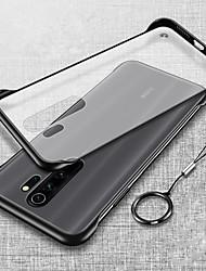 cheap -Luxury Frameless Slim Cases For Xiaomi Redmi Note 8 Pro Note 7 K20 Pro Hard PC Matte Transparent Cover Funda Frame Key Ring