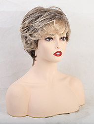 cheap -Human Hair Wig Short Curly Natural Straight Pixie Cut With Bangs Multi-color Women Sexy Lady Adorable Capless Women's All Black / Grey Medium Brown / Strawberry Blonde Chestnut Brown / Medium Auburn