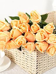 Недорогие -Искусственный цветок чувствовать увлажняющий роза поддельные цветок свадебные украшения дома